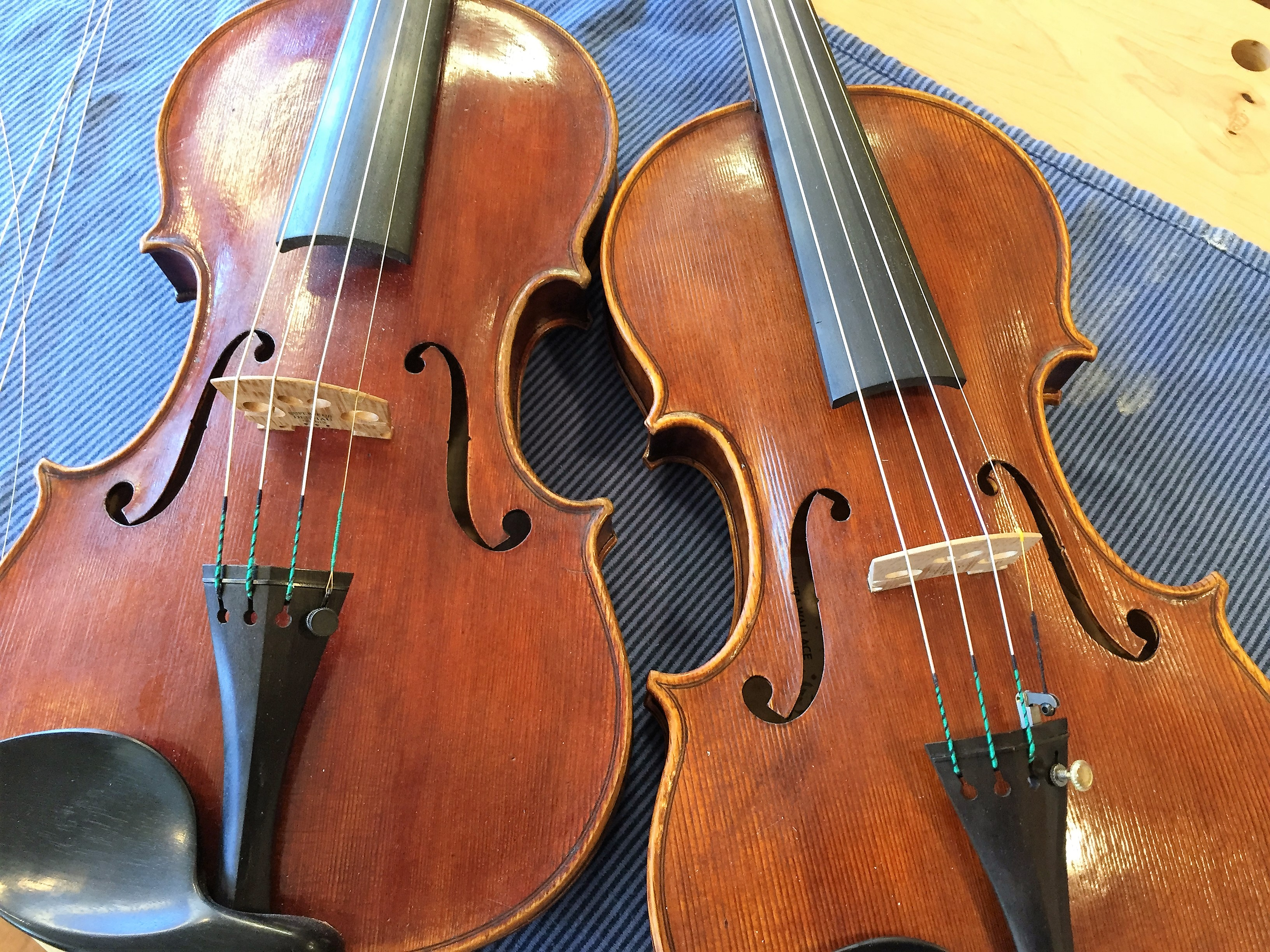 The twins: both build on a Strad Huberman model.